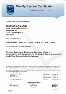 Presafe ISO 13485 & ISO 9001 certificate - May 2015-red