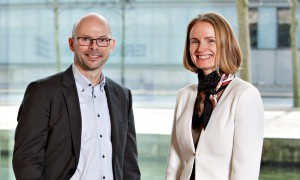 Michael Funder, CEO, Medicologic and Lene Ploug Bülow, General Manager, Otovation