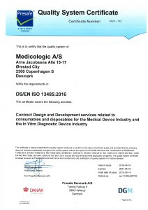 Medicologic-ISO13485 Certificate-May 2018
